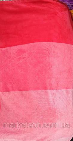 Флисовые простыни 200*230. Красный., фото 2