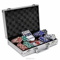 Покерный набор в алюминиевом кейсе на 200 фишек №200, все для покера
