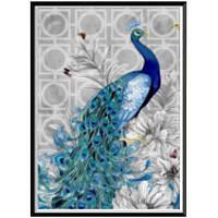 NAIYUE 2034 Синий павлин Животный принт Алмазная роспись Алмазная вышивка