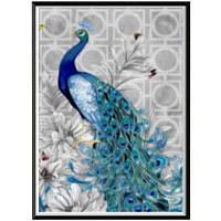 NAIYUE 2035 Синий павлин Животный принт Алмазная роспись Алмазная вышивка