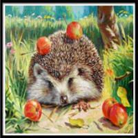 AIYUE 9449 Картина для рисования с ежей для рисования Алмазная вышивка Алмазная вышивка