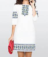 Заготовка жіночого плаття чи сукні для вишивки та вишивання бісером Бисерок  «Волошки» (П 75f81d77753a0