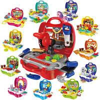 Детский игровой набор Сиденье для сидения Игрушки для кухни Пластиковая посуда с медицинским комплектом Красный