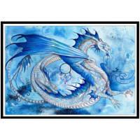 NAIYUE K039 Синий дракон Животный принт Алмазная живопись Алмазная вышивка