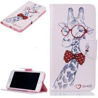 Giraffe Pattern роскошный стиль PU кожаный чехол для мобильного телефона флип-обложка для iPhone 7/8 Белый