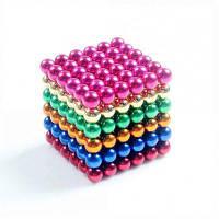 Магнитные шарики (5MM Набор из 216 шаров) DIY Многоцветные скульптуры из нержавеющей стали Исцеление Творческие игрушки Magic Cube цвет