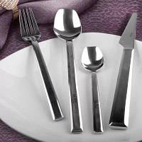Набор утолщенных вилок ножей ложек 4шт Серебристый