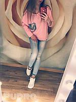 Женский свитшот кофточка с пайеткой