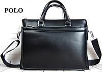 Мужская сумка-портфель Polo. Формат А4. Сумка поло экокожа. Стильная сумка.