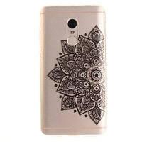 Black Half Flower Soft Clear IMD Корпус для телефона с сенсорным экраном для мобильных телефонов Смартфон Корпус для Xiaomi Redmi Примечание 4 Чёрный