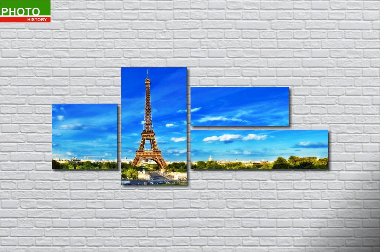 Картина модульная весна Париж