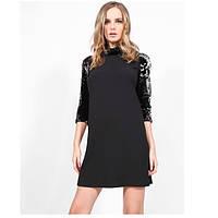 Черное платье с пайетками от Империал