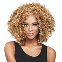 Модный женский короткий вьющийся парик ретро стиль Ladylike Очаровательные аксессуары для волос Свет золотой