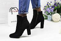 Женские демисезонные ботинки на каблуке Lino Maranoэкозамш высокого качества
