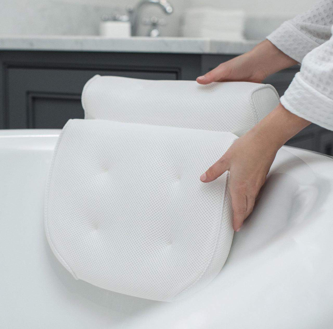 Ортопедическая подушка для ванной Original GORILLA GRIP (TM) Premium Spa Bath Pillow на мощных присосках