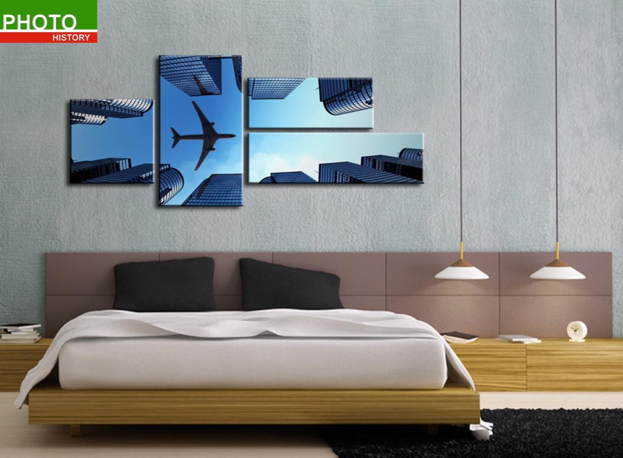 Картина модульная самолет