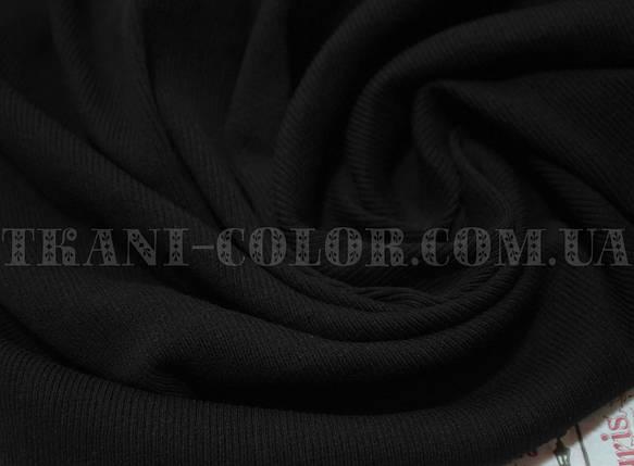 Трикотаж кашкорсе черный (пенье), фото 2