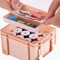 Швейный набор для швейных ниток для швейных ниток Розовый