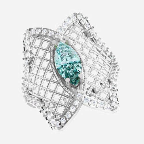 Кольцо  женское серебряное Бабочка ВKE-1455