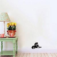 DSU Creative мультфильм собака силуэт стены стикер щенок виниловые наклейки стены для детской комнаты 11.3 x 18 cм
