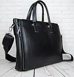 Чоловіча сумка-портфель Polo. Формат А4. Сумка поло екокожа. Якісна сумка-портфель., фото 7