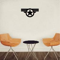 Sph-1 Круг Пятиконечная звезда Знак наклейки Виниловые наклейки Декор Домашний декор 7.5cм x 15cм