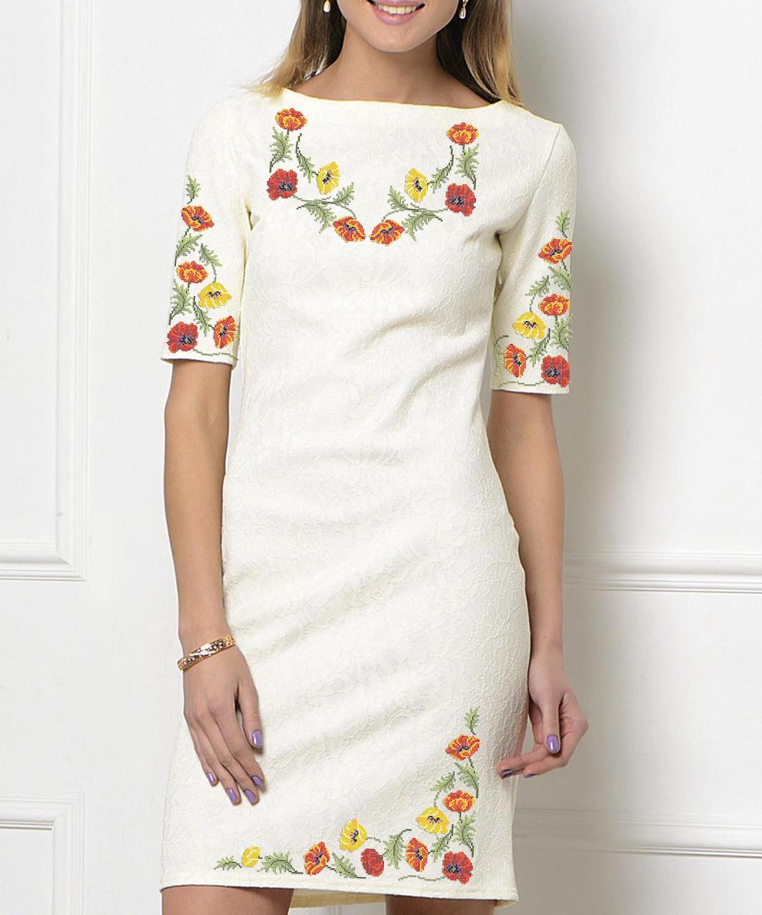 Заготовка жіночого плаття чи сукні для вишивки та вишивання бісером Бисерок  «Вальс» (П-51 )