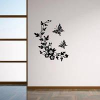 Vine Flower Vinyl Съемный стикер для наклейки на стенах наклейки для бабочек Цветочные наклейки Стиральная машина наклейки Home Decor 28 x 34 cм
