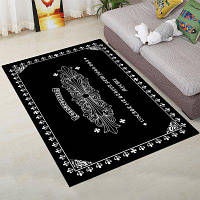 Домашний декоративный коврик для пола Простой черный толстый водопоглощающий коврик 40x60см