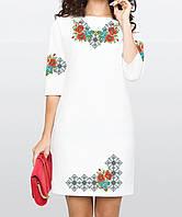 Заготовка жіночого плаття чи сукні для вишивки та вишивання бісером Бисерок  «Чарівні квіти» Домоткан c5f8a621d8c88