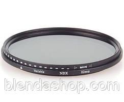 Нейтрально-серый светофильтр с переменной плотностью 82 мм ND2 - ND400