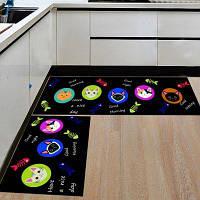 Дверь Метка Likable Животные Pattern Мягкая Моющаяся ANtiskidding Kitchen Mat 40x60см