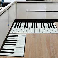 Кухонный пол Матовый супер мягкий пианино Ключ Pattern Washable Door Mat 40x60см