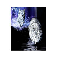 Naiyue 7157 Белый волк печатает алмазные картины Цветной