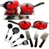 Play House Детская кухонная имитация Посуда 13PCS Кухонная посуда Игрушки Детское раннее обучение Посуда Игрушки Серебристый