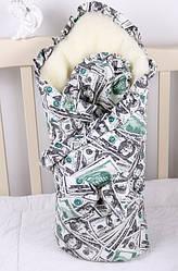 """Зимний конверт для новорожденных """"Мария""""  доллары"""