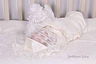 """Благородное крестильное полотенце """"Любовь"""" молоко"""