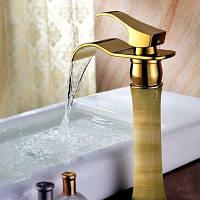 MLFALLS M1501GWVQ-H Jade Водопроводный кран для ванной комнаты Золотой