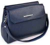 Женская кожаная сумка клатч планшет Цвет синий