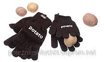 Рукавицы для чистки картофеля черные Paderno