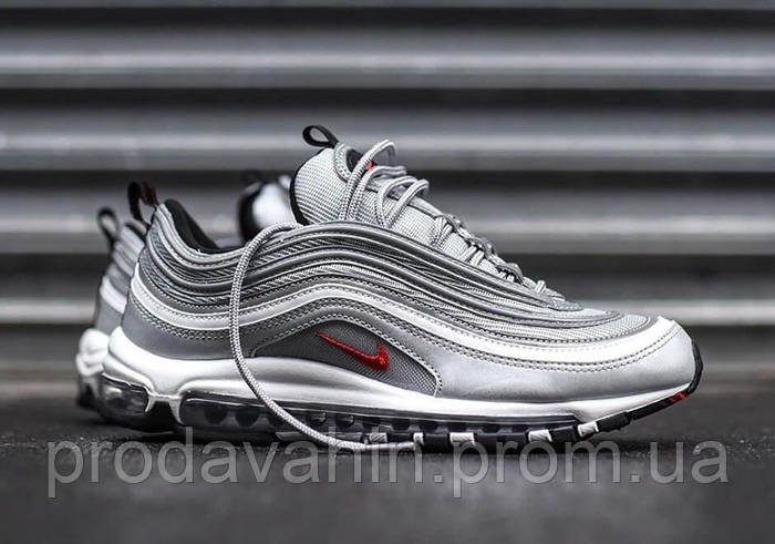 ▻ Купить Кроссовки мужские цвет метал Nike Air Max 97 Silver Bullet ... 5fafdbf009a