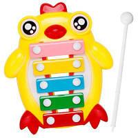Детский перкуссия Детский воспитательный цыпленок Рука Стук Раннее детство Музыка Восемь фортепиано Цвет маргаритки