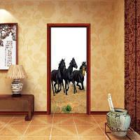 DSU 3D новая мода Дверные наклейки Пейзаж Водонепроницаемая гостиная Спальня двери обои Самоклеящиеся наклейки на стенах Имитация