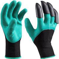 Садовые джинсовые перчатки с когтями Быстро и легко копать и сажать, безопасно для садоводства Копать и сажать Зелёный