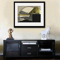 Специальная конструкция Каркасные картины The Moon Print 12 x 12 дюйма (30cм x 30cм)