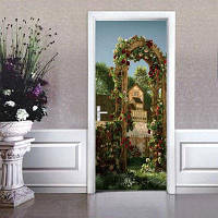 DSU 3D Creative наклейки на двери Пейзаж Водонепроницаемая гостиная Спальня двери обои Самоклеящиеся наклейки на стенах Имитация