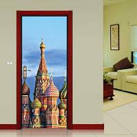 DSU Дверные наклейки Пейзаж Водонепроницаемая Гостиная Спальня Обои Обои Самоклеящиеся наклейки на стенах Имитация