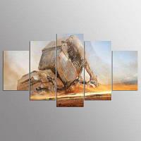 YSDAFEN 5 шт. Фильм-пустынный истребитель Современный декор домашнего интерьера Art HD Print для гостиной 30x40cмx2+30x60cмx2+30x80cмx1