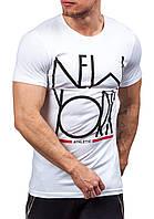 Мужская белая футболка New York