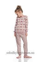 Піжама дитяча Ellen на підчосі В'язані Сердечки 128-158 - 016/001/1